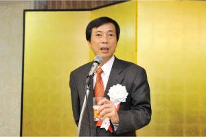 池田新副会長の乾杯のご発声