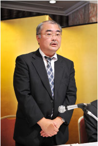 亀井新専務理事の就任挨拶