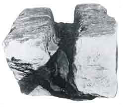 アプシル神殿に使われた銅管の一部